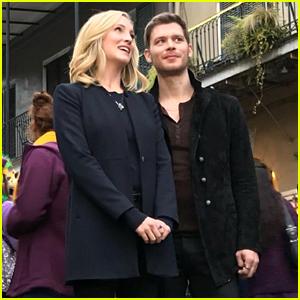Candice King & Joseph Morgan Film Klaroline Scenes For 'Originals' Series Finale - See The Pics!