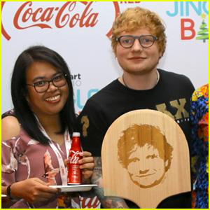 Ed Sheeran Does Good for Charity While at Jingle Ball!