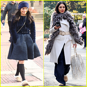 Vanessa Hudgens Models Fall Style While Filming 'Second Act'