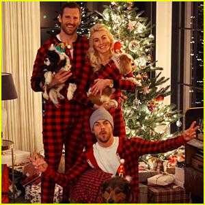 Julianne & Derek Hough Spend Christmas Together in Matching Onesies!