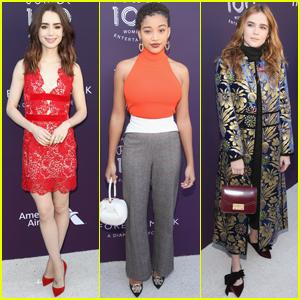 Lily Collins, Amandla Stenberg & Zoey Deutch Support THR's Women in Entertainment!