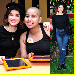 Lucy Hale Bonds With CHLA Patient Laura Over Love of French Fries
