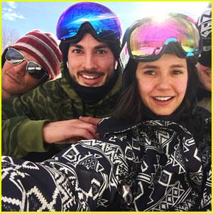 Nina Dobrev & Michael Trevino Hit The Slopes In Aspen!