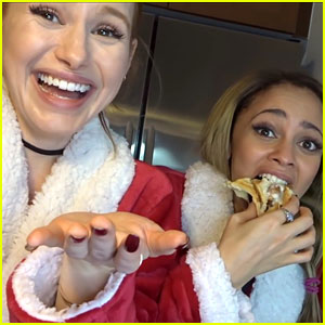 'Riverdale' Co-Stars Madelaine Petsch & Vanessa Morgan Attempt To Make Vegan Cinnamon Rolls