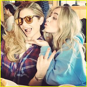 Sabrina Carpenter Blows a Kiss to 'Girl Meets World' Co-Star Danielle Fishel in Cute New Pic