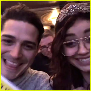 Sarah Hyland & Wells Adams Hit The Great White Way