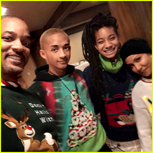 Willow & Jaden Smith's Mom Made Them Wear Ugly Christmas Sweaters!