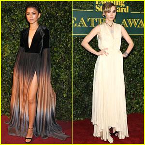 Zendaya & Suki Waterhouse Are Gorgeous Ladies At London Evening Standard Theatre Awards