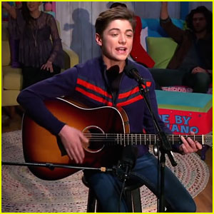 Asher Angel Performs 'Andi Mack' Theme Song at Cast Party