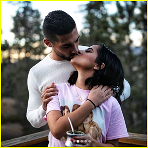 Becky G Shares Sweet Kiss With Sebastian Lletget on New Year's Day 2018