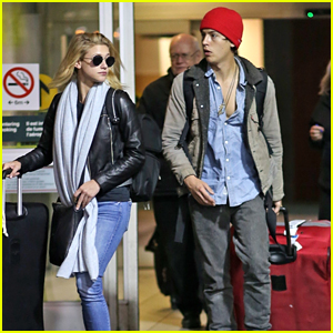 Cole Sprouse & Lili Reinhart Arrive Back in Vancouver Together After Golden Globes Weekend