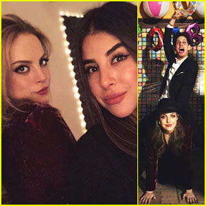 Elizabeth Gillies, Matt Bennett, & Daniella Monet Unite For New Year's Eve