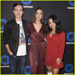 Maia Mitchell, Cierra Ramirez & Hayden Byerly Rep 'The Fosters' at Freeform Summit
