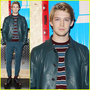 Joe Alwyn Represents Prada at Milan Men's Fashion Week Show