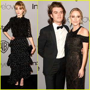 Maika Monroe & Joe Keery Make It a Date Night at Golden Globes 2018 After Party