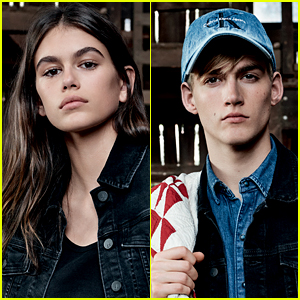 Kaia & Presley Gerber Model Together for Calvin Klein Jeans Campaign!