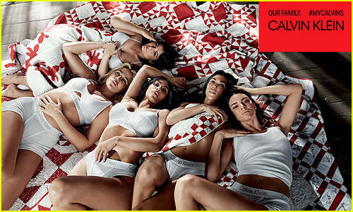 Kylie & Kendall Jenner Join Kardashian Sisters for Calvin Klein Campaign!