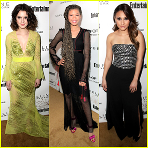 Laura Marano Wows in Neon Yellow at EW's SAG Party