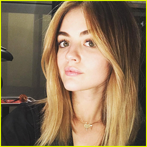 Lucy Hale Is Ready For Her Selena Gomez Blonde Moment