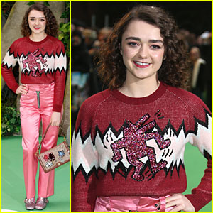 Maisie Williams Dolls Up In Pink For 'Early Man' Premiere