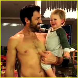Maksim Chmerkovskiy Preps For Tour By Dancing Shirtless with Son Shai - Watch!