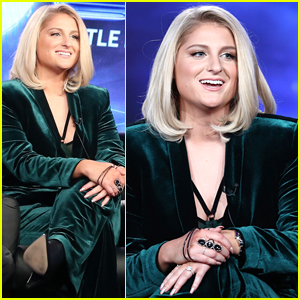 Meghan Trainor Goes Glam in Green While Promoting 'The Four'!