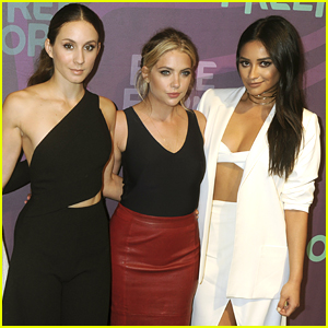 'PLL' Stars Ashley Benson, Troian Bellisario & Shay Mitchell Reunite For Giant Jenga Party