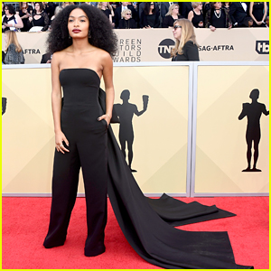 Yara Shahidi Changed Her SAG Awards Look From A Dress to Pants For This Very Relatable Reason