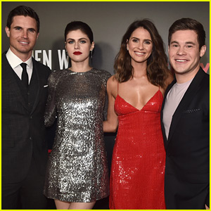 Adam Devine Joins Alexandra Daddario & Robbie Amell at 'When We First Met' Screening