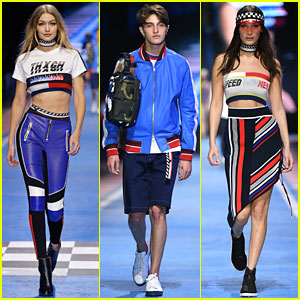 Bella & Anwar Hadid Join Big Sis Gigi For Final Tommy Hilfiger Show!