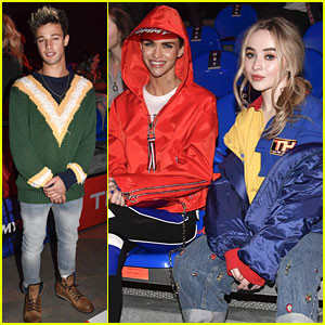 Cameron Dallas & Sabrina Carpenter Sit Front Row at Tommy Hilfiger
