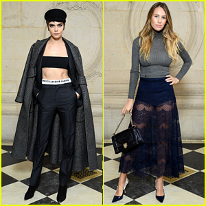 Cara Delevingne & Dylan Penn Look Pretty at the Christian Dior Fashion Show in Paris!