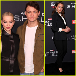 Dove Cameron & Thomas Doherty Couple Up at 'Agents of S.H.I.E.L.D' 100th Episode Party!