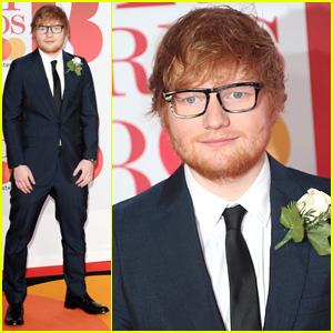 Ed Sheeran Sports Ring on That Finger at Brit Awards 2018