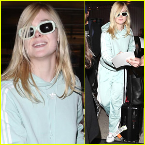 Elle Fanning Greets Fans at LAX Airport!