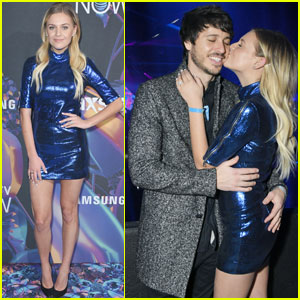 Kelsea Ballerini & Husband Morgan Evans Couple Up For Super Bowl Party!