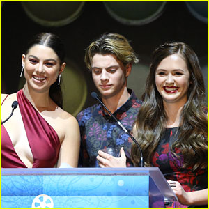 Kira Kosarin & Jace Norman Join Olivia Sanabia at Hair & Makeup Stylists Guild Awards