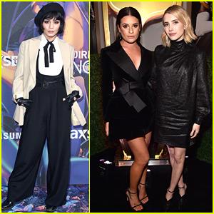 Vanessa Hudgens Kicks Off Super Bowl Weekend with Lea Michele & Emma Roberts!