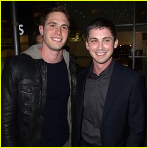 Logan Lerman & Blake Jenner Buddy Up at 'Sidney Hall' Premiere!