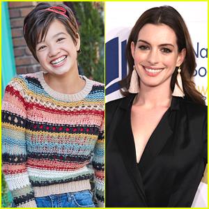 Peyton Elizabeth Lee's Acting Idol Anne Hathaway Pops Up in Tonight's 'Andi Mack'