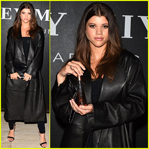 Sofia Richie Slays in Black Leather at Issey Miyake Fragrance Event