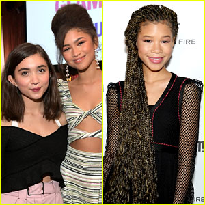 Zendaya Gushes About Rowan Blanchard & Storm Reid, Calls Storm Her 'Long-Lost Little Sister'