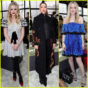 Ava Phillippe, Naomi Scott & Dakota Fanning Attend Valentino Paris Fashion Week Show
