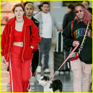 Bella Thorne & BF Mod Sun Walk Their Dog at the Airport