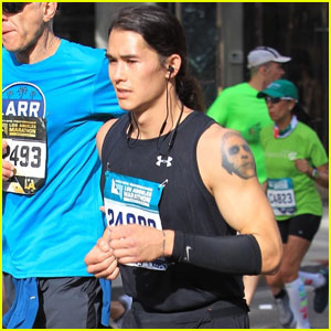 Booboo Stewart Takes Part in the LA Marathon!