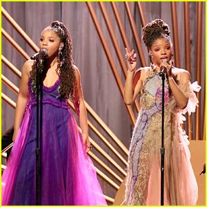 Chloe & Halle Perform 'Warrior' at Essence Black Women In Hollywood Oscars Luncheon