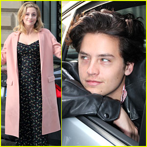 Cole Sprouse & Lili Reinhart Leave Their Hotel to Attend RiverCon 2018 in Paris