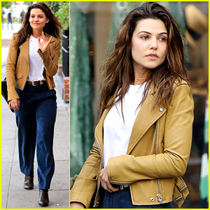 Danielle Campbell Wears Cute Yellow Jacket To Lunch With Friend in LA