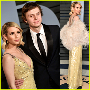 Emma Roberts Attends an Oscars After Party with Evan Peters!