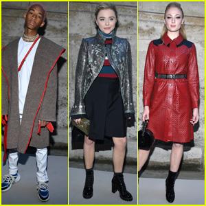 Jaden Smith, Chloe Moretz & Sophie Turner Look so Stylish at the Louis Vuitton Show in Paris!